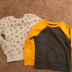 Two Cat & Jack Crew Neck Sweatshirts